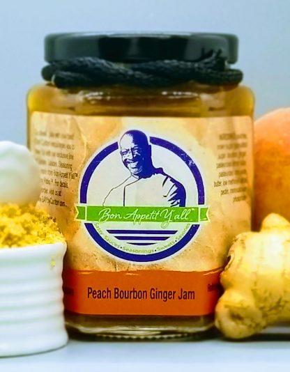Peach Bourbon Ginger Jam