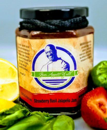 Strawberry Basil Jalapeno Jam